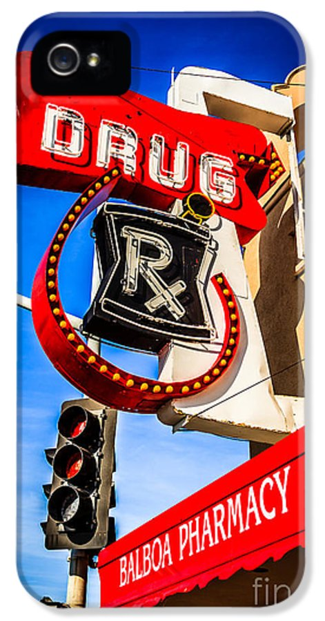 America IPhone 5 Case featuring the photograph Balboa Pharmacy Drug Store Newport Beach Photo by Paul Velgos