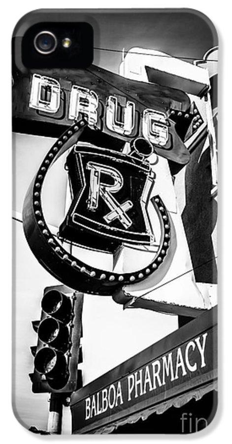 America IPhone 5 Case featuring the photograph Balboa Pharmacy Drug Store Orange County Photo by Paul Velgos