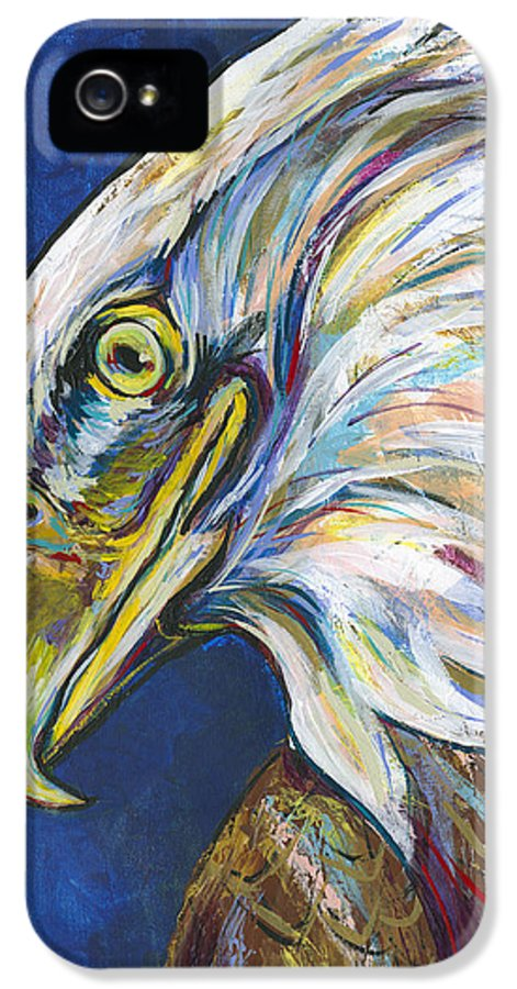 Lovejoy IPhone 5 Case featuring the painting Bald Eagle by Lovejoy Creations