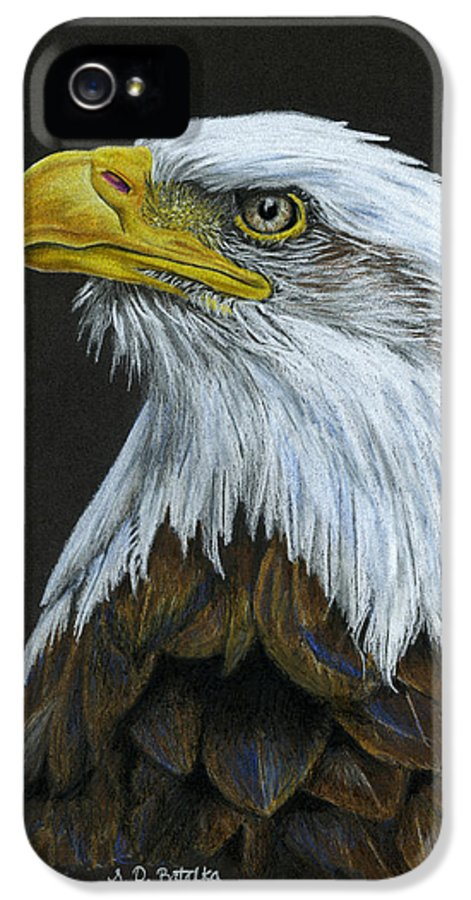 Bald Eagle IPhone 5 Case featuring the painting Bald Eagle by Sarah Batalka