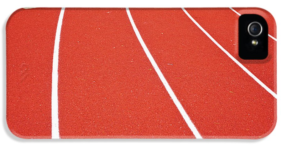 Built Structure IPhone 5 Case featuring the photograph Ballard High School Track Sruface by Nathan Griffith