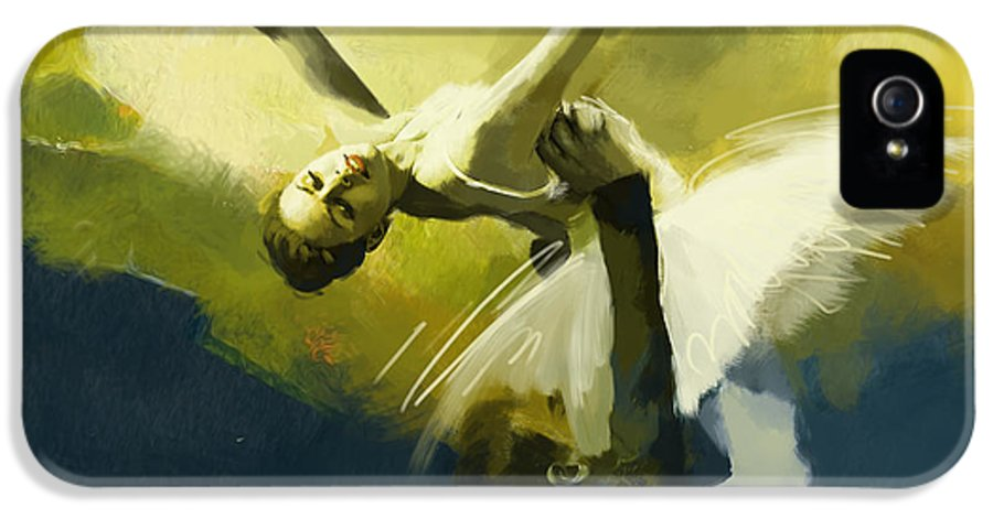 Catf IPhone 5 Case featuring the painting Ballet Dancer by Corporate Art Task Force