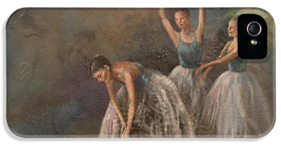 Ballet Dancers IPhone 5 Case featuring the painting Ballet Dancers by Susan Bradbury
