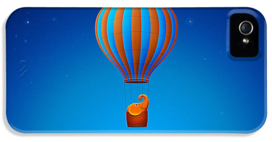 Happy IPhone 5 Case featuring the photograph Balloon Elephant by Gianfranco Weiss