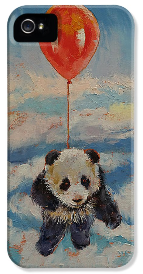 Children's Room IPhone 5 Case featuring the painting Balloon Ride by Michael Creese