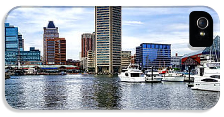 Baltimore IPhone 5 Case featuring the photograph Baltimore Inner Harbor Marina by Olivier Le Queinec