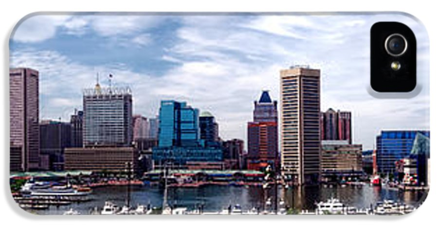 Baltimore IPhone 5 Case featuring the photograph Baltimore Skyline by Olivier Le Queinec