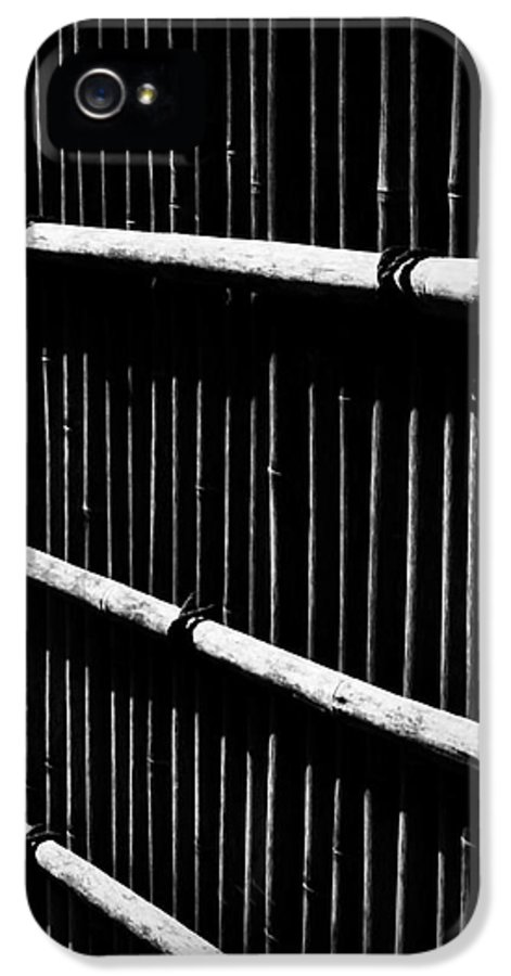 Bamboo IPhone 5 Case featuring the photograph Bamboo Screen by Claire Carpenter