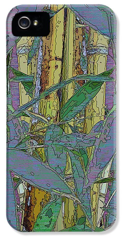 Bamboo IPhone 5 Case featuring the digital art Bamboo Study 9 by Tim Allen