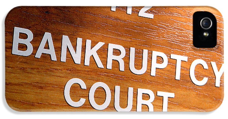 Bankrupt IPhone 5 Case featuring the photograph Bankruptcy Court by Olivier Le Queinec