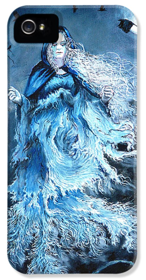 Banshee IPhone 5 Case featuring the painting Banshee by Tomas OMaoldomhnaigh