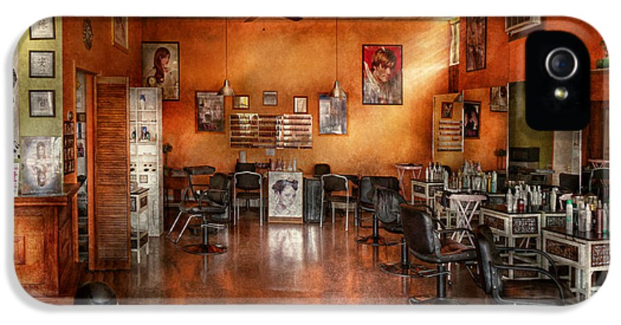 Barber IPhone 5 Case featuring the photograph Barber - Union Nj - The Modern Salon by Mike Savad