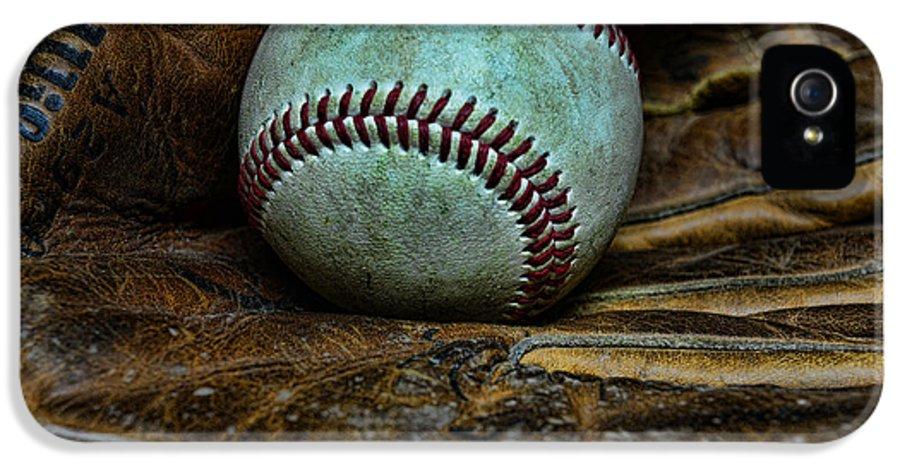 Paul Ward IPhone 5 Case featuring the photograph Baseball Broken In by Paul Ward