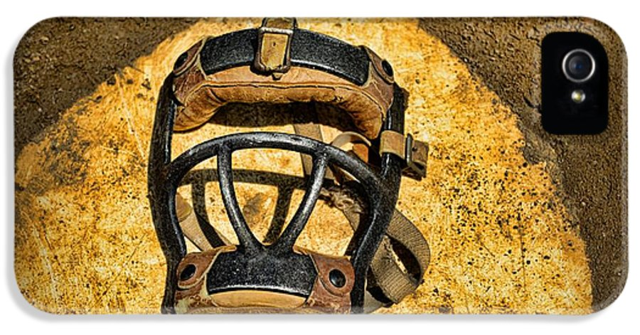 Paul Ward IPhone 5 Case featuring the photograph Baseball Catchers Mask Vintage by Paul Ward