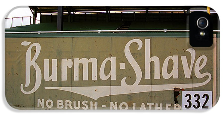 Ad IPhone 5 Case featuring the photograph Baseball Field Burma Shave Sign by Frank Romeo