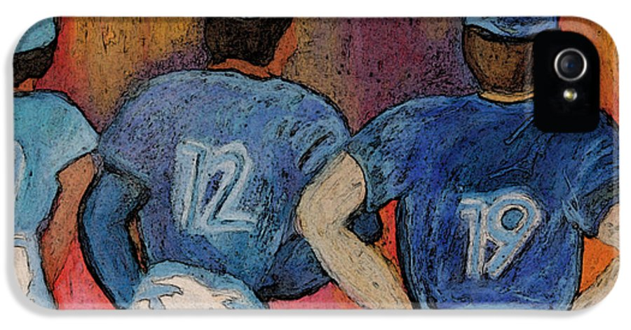 First Star Art IPhone 5 Case featuring the painting Baseball Team By Jrr by First Star Art