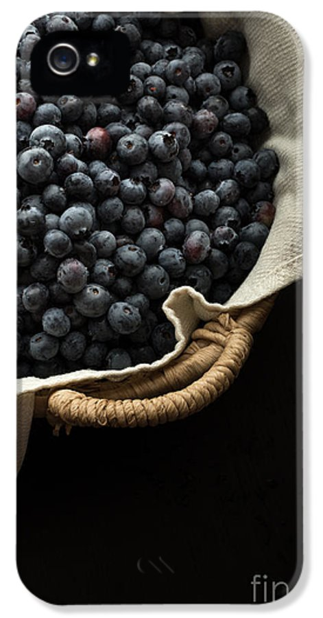 Superfood IPhone 5 Case featuring the photograph Basket Full Fresh Picked Blueberries by Edward Fielding