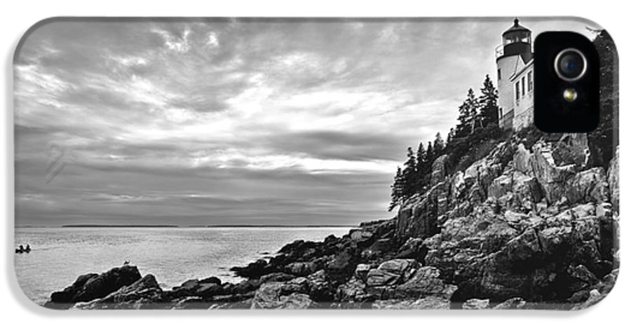 Bar Harbor IPhone 5 Case featuring the photograph Bass Harbor Lighthouse At Dusk by Diane Diederich