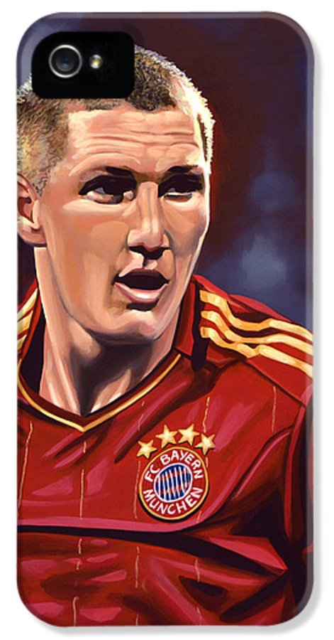 Bastian Schweinsteiger IPhone 5 Case featuring the painting Bastian Schweinsteiger by Paul Meijering