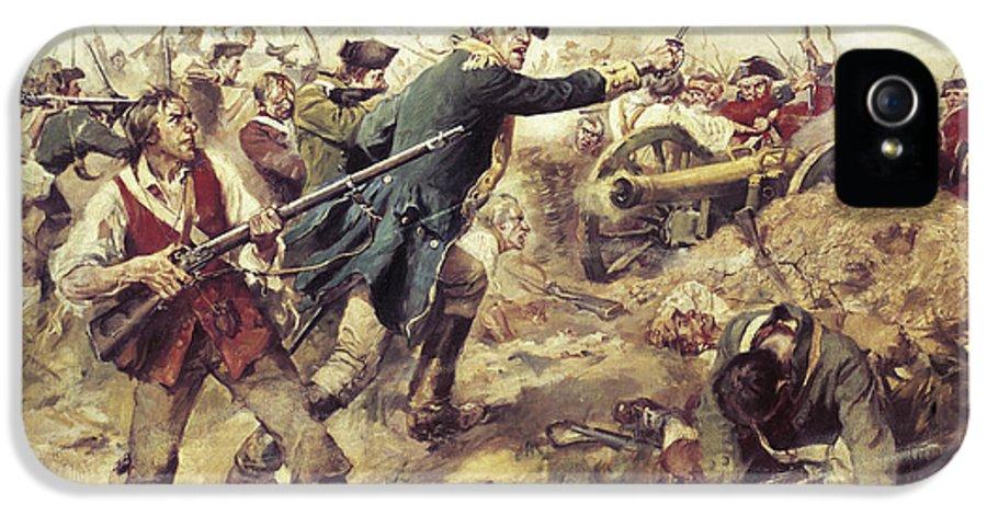 General John Stark IPhone 5 Case featuring the painting Battle Of Bennington by Frederick Coffay Yohn