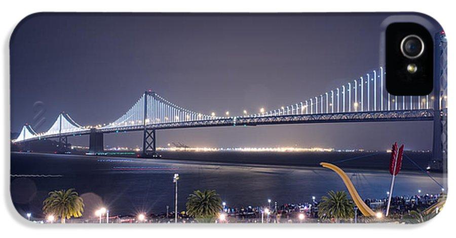 Bay Bridge Grand Lighting Ceremony Led Lights IPhone 5 Case featuring the photograph Bay Bridge Grand Lighting Ceremony by David Yu