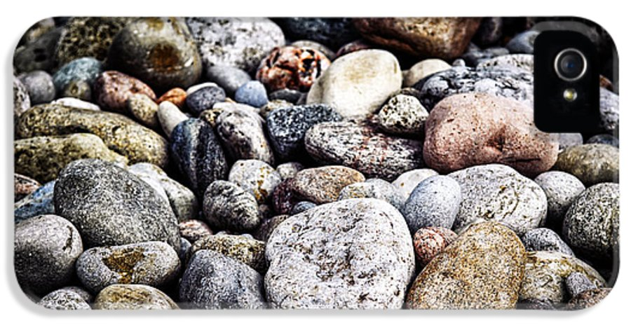 Rock IPhone 5 Case featuring the photograph Beach Pebbles by Elena Elisseeva