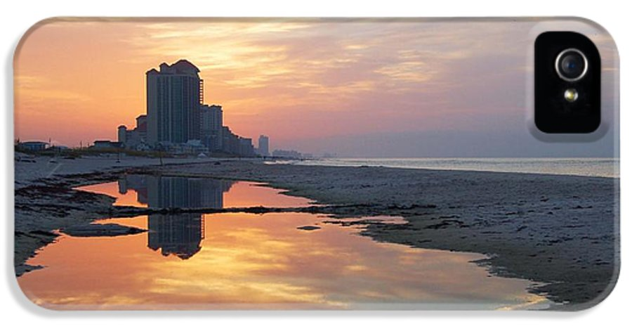 Alabama IPhone 5 Case featuring the digital art Beach Reflections by Michael Thomas