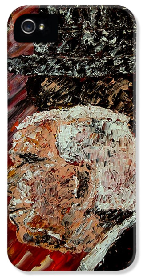 Bear Bryant IPhone 5 Case featuring the painting Bear Bryant And Mal Moore by Mark Moore