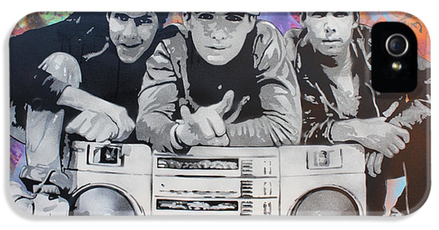 Stencil Art IPhone 5 Case featuring the painting Beastie Boys by Josh Cardinali