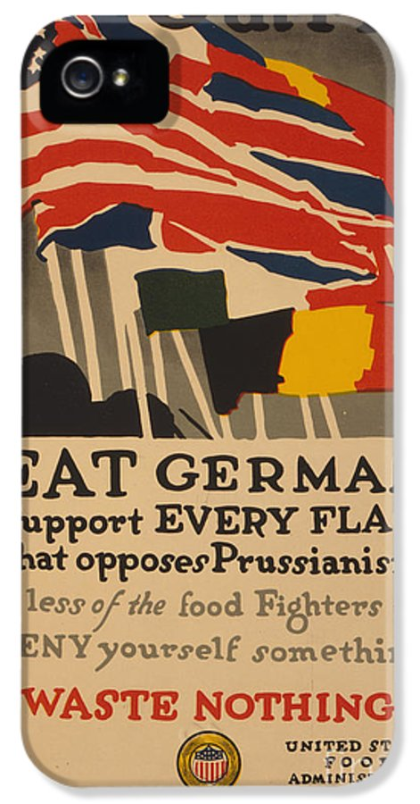 Advertising IPhone 5 Case featuring the painting Beat Germany by Adolph Treidler