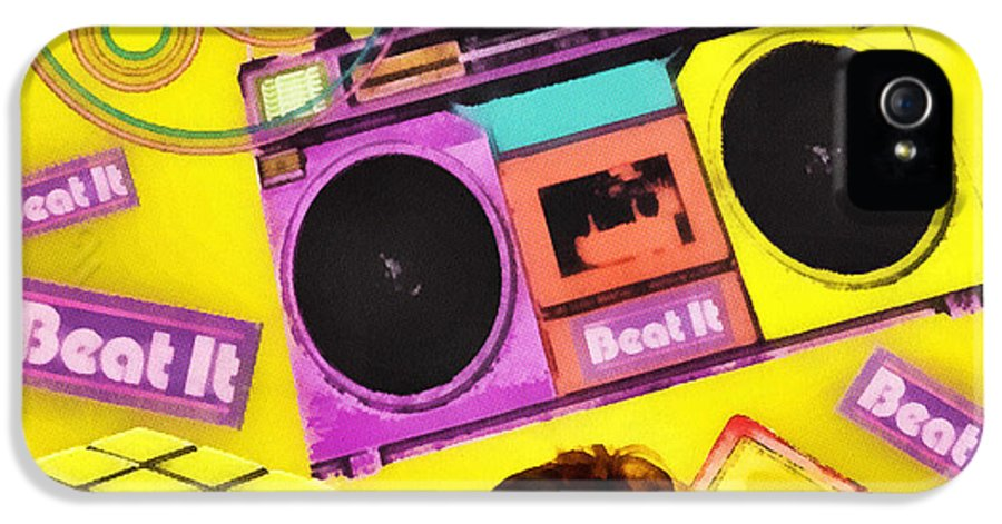 Beat It IPhone 5 Case featuring the digital art Beat It by Mo T