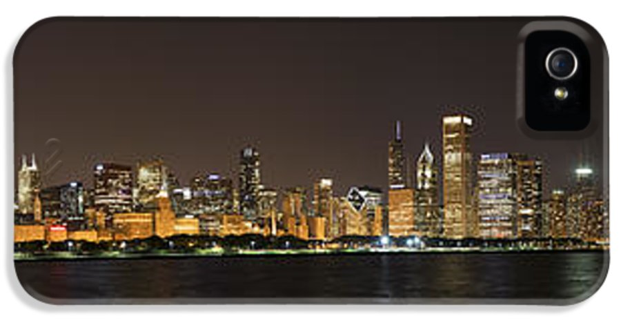 3scape Photos IPhone 5 Case featuring the photograph Beautiful Chicago Skyline With Fireworks by Adam Romanowicz