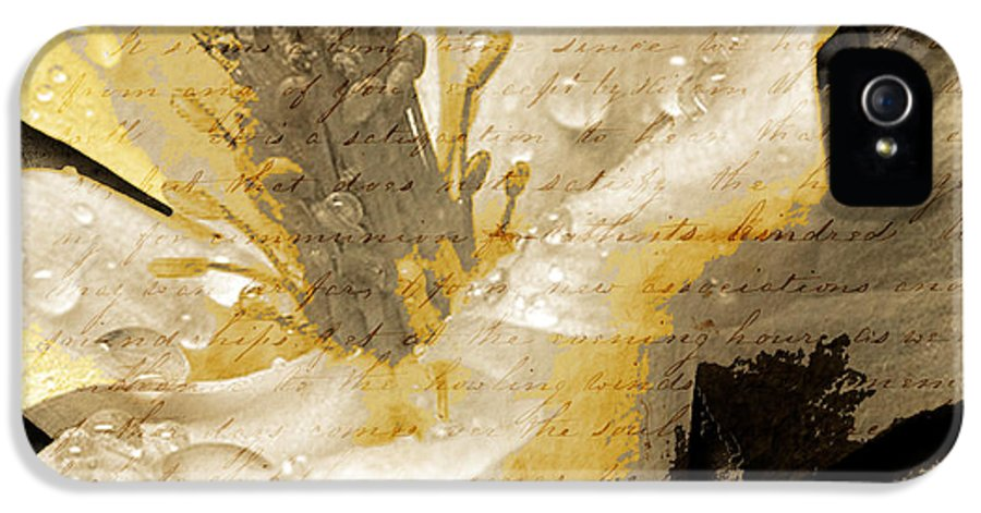IPhone 5 Case featuring the mixed media Beauty IIi by Yanni Theodorou