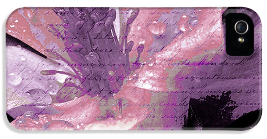 IPhone 5 Case featuring the mixed media Beauty Ix by Yanni Theodorou