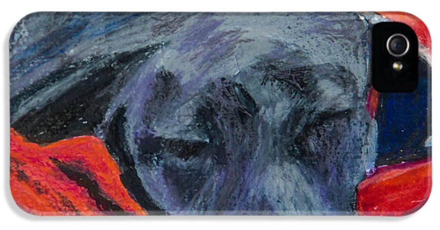 Labrador Retriever IPhone 5 Case featuring the painting Beauty Rest by Roger Wedegis