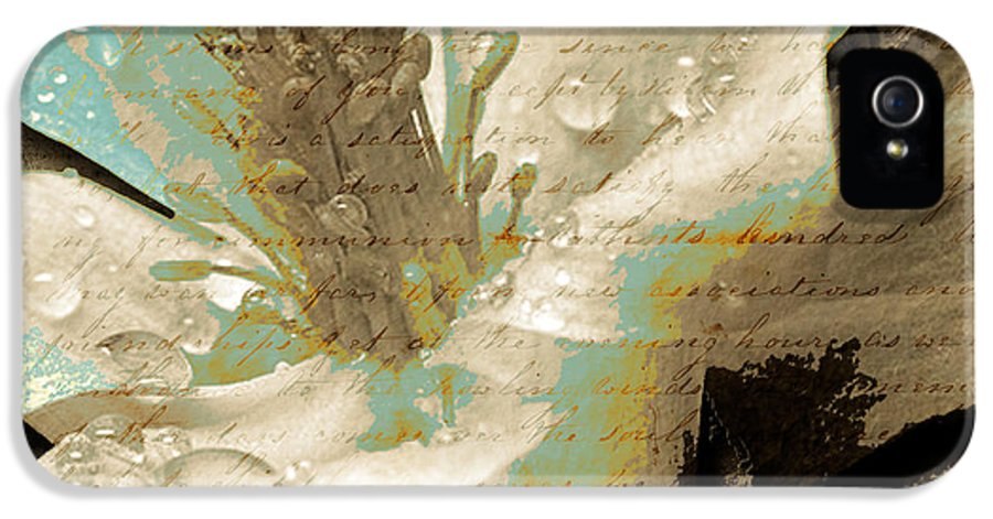 IPhone 5 Case featuring the mixed media Beauty V by Yanni Theodorou