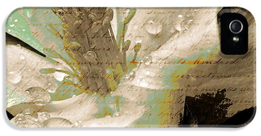 IPhone 5 Case featuring the mixed media Beauty Vi by Yanni Theodorou