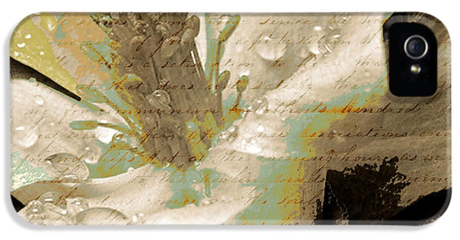 IPhone 5 Case featuring the mixed media Beauty Vii by Yanni Theodorou