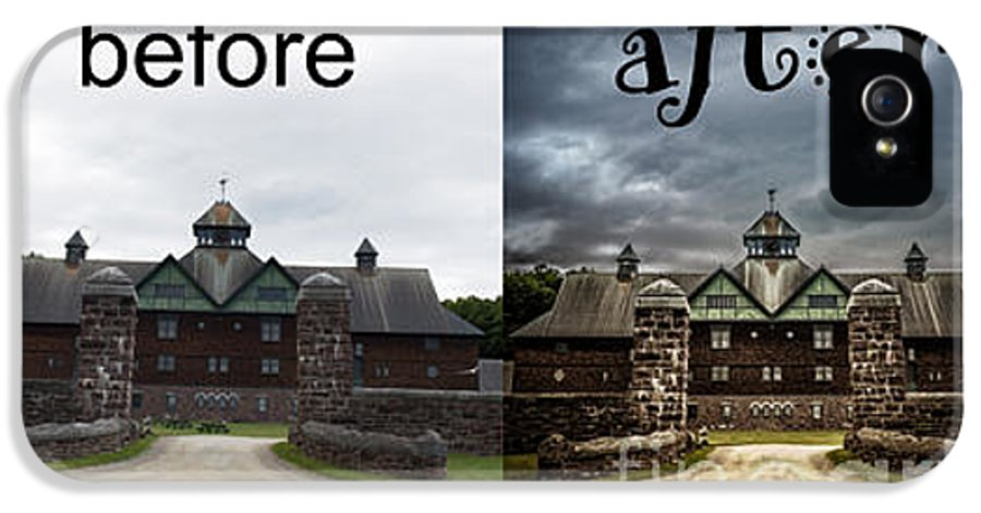 Shelburne IPhone 5 Case featuring the photograph Before And After by Edward Fielding