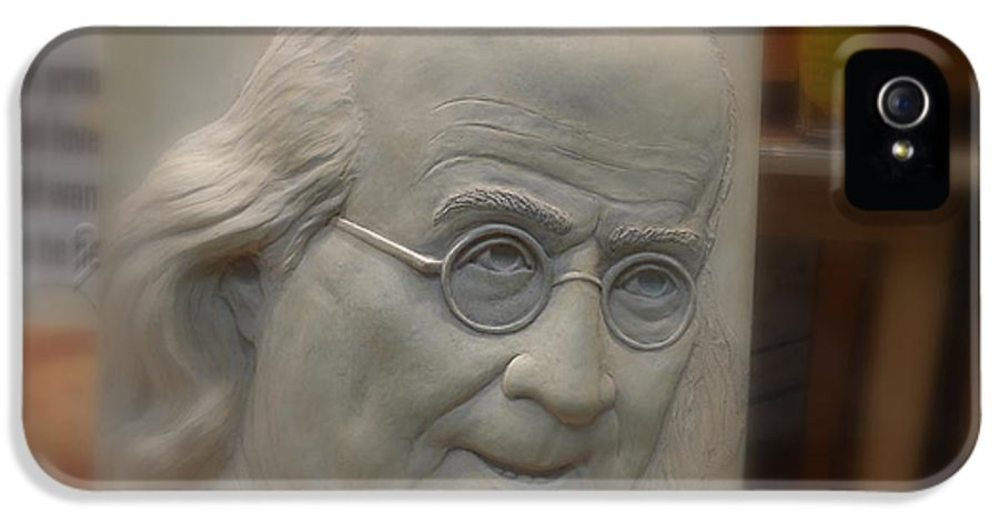Benjamin IPhone 5 Case featuring the photograph Ben Franklin Looking Out by Richard Reeve