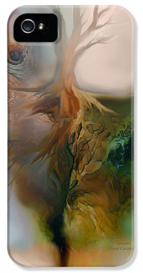 Beneath IPhone 5 Case featuring the painting Beneath by Carol Cavalaris