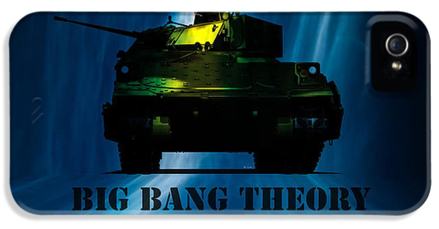 Big Bang IPhone 5 Case featuring the digital art Big Bang Theory by Bob Orsillo