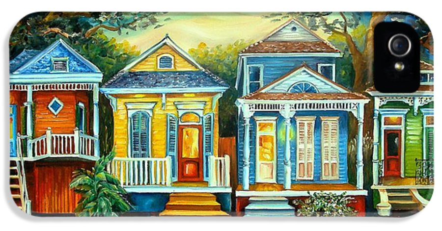 New Orleans IPhone 5 Case featuring the painting Big Easy Moon by Diane Millsap