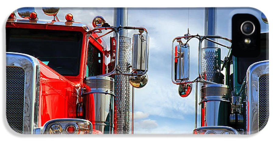 Transportation IPhone 5 Case featuring the photograph Big Trucks by Bob Orsillo