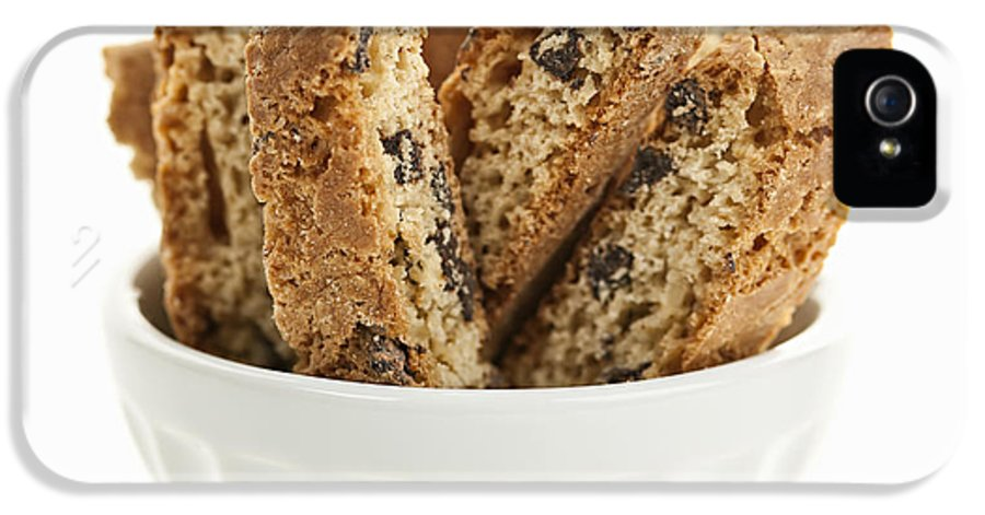 Biscotti IPhone 5 Case featuring the photograph Biscotti Cookies In Bowl by Elena Elisseeva