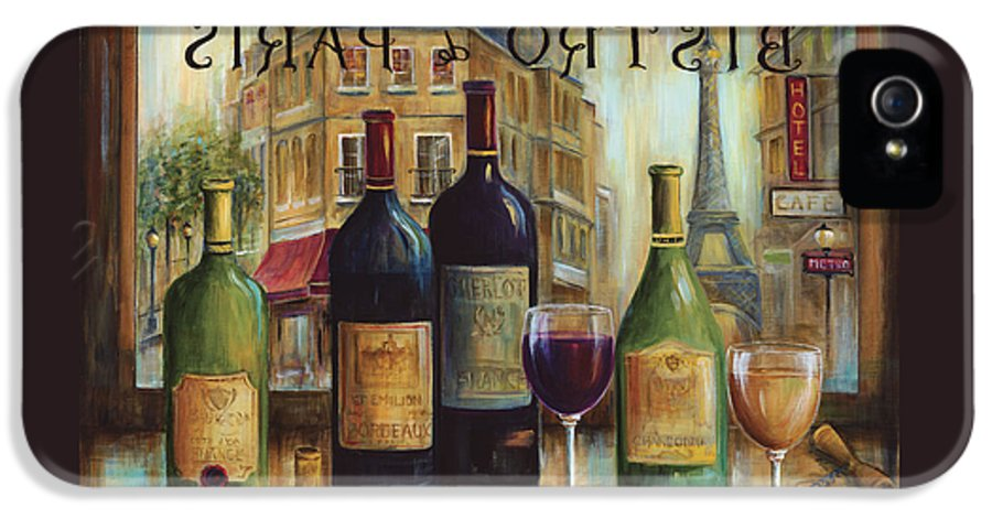 Wine IPhone 5 Case featuring the painting Bistro De Paris by Marilyn Dunlap