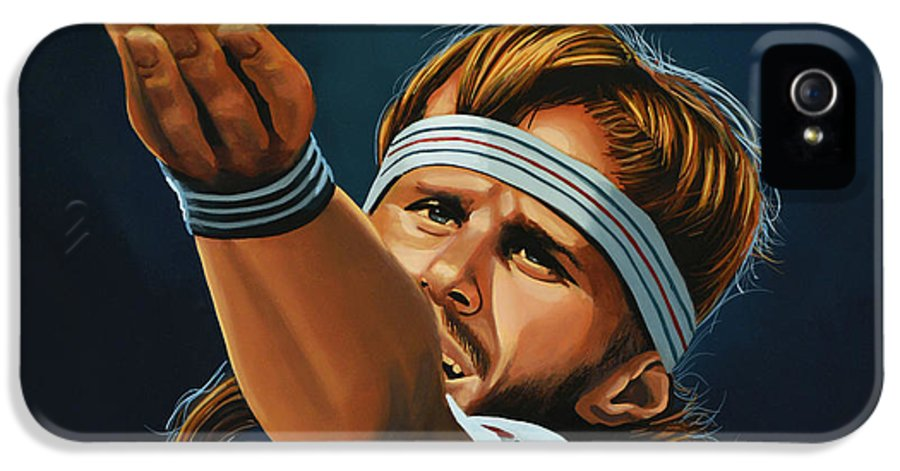 Bjorn Borg IPhone 5 Case featuring the painting Bjorn Borg by Paul Meijering