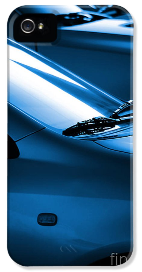 Auto IPhone 5 Case featuring the photograph Black And Blue Cars by Carlos Caetano