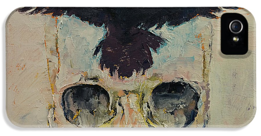 Michael Creese IPhone 5 Case featuring the painting Black Crow by Michael Creese