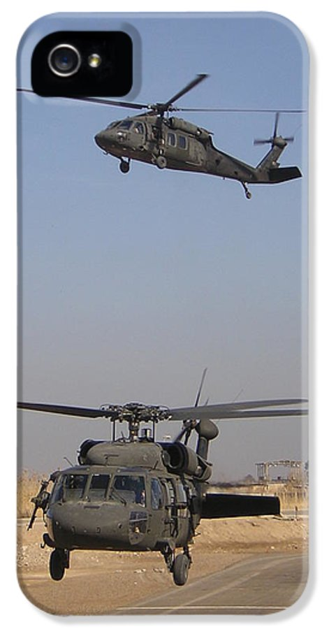 Helicopter IPhone 5 Case featuring the photograph Blackhawk Departure by Duwayne Williams
